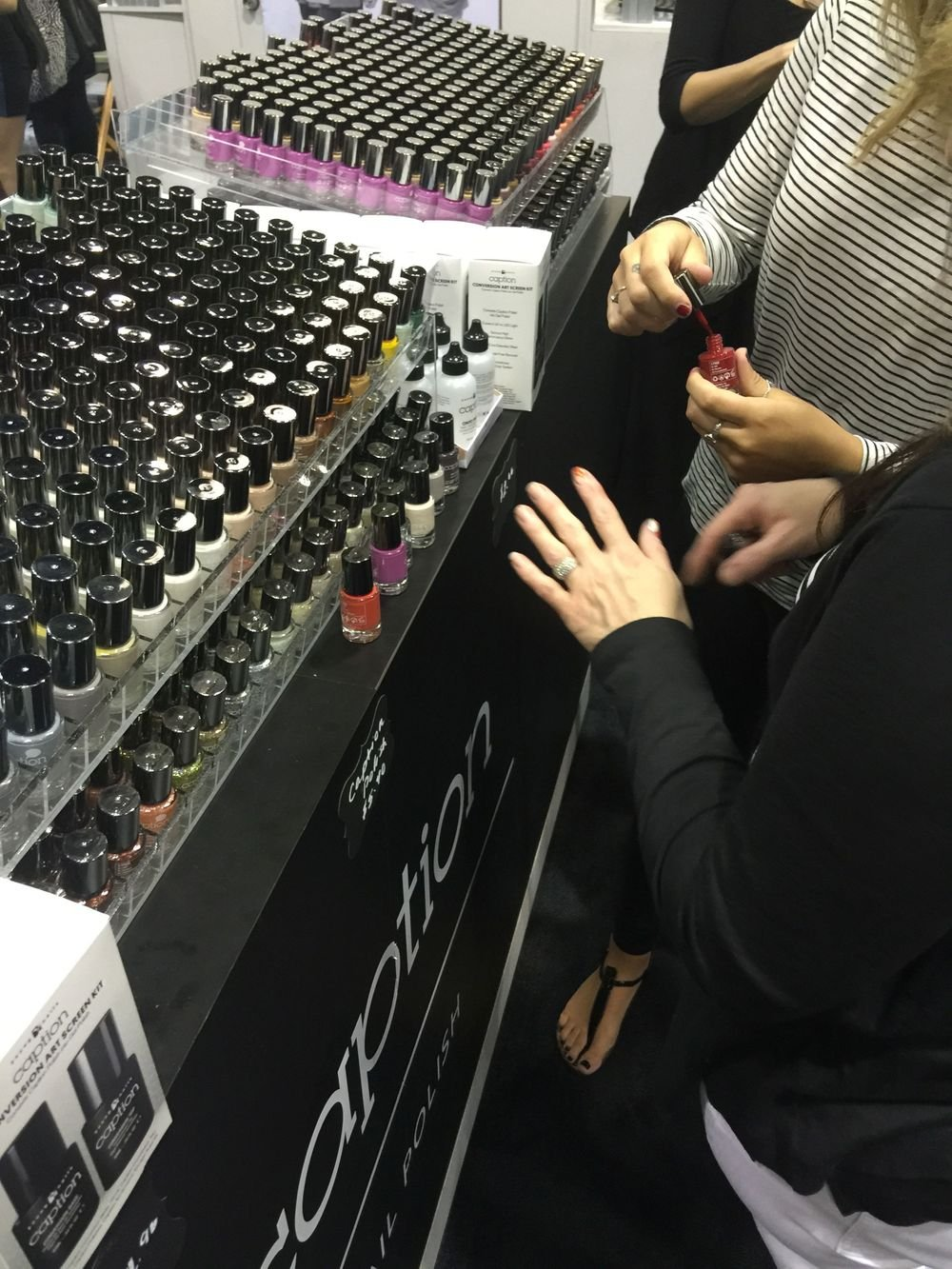 <p>The try-on counter at Caption was hopping.</p>