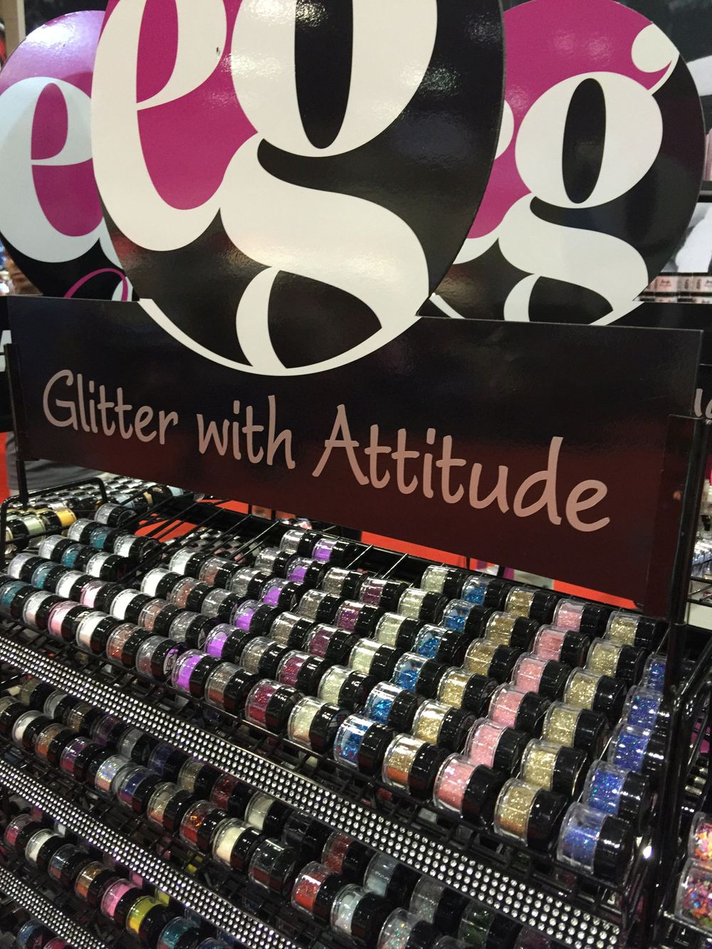 <p>NSI had an all-new booth showcasing its Secrets line and EG Glitter with Attitude.&nbsp;</p>