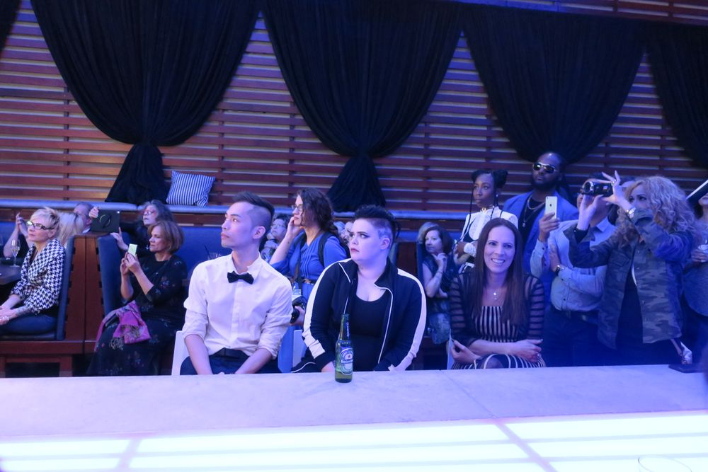 <p>The Top 3 anxiously awaiting the results</p>