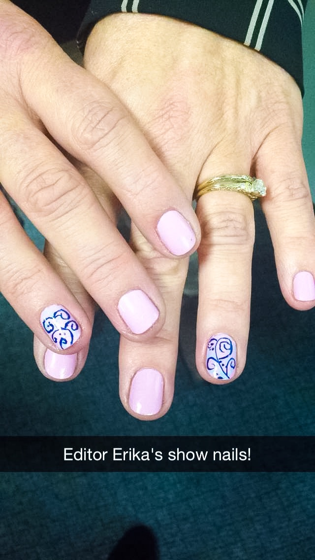 <p>NAILS Erika Kotite's show nails&nbsp;</p>