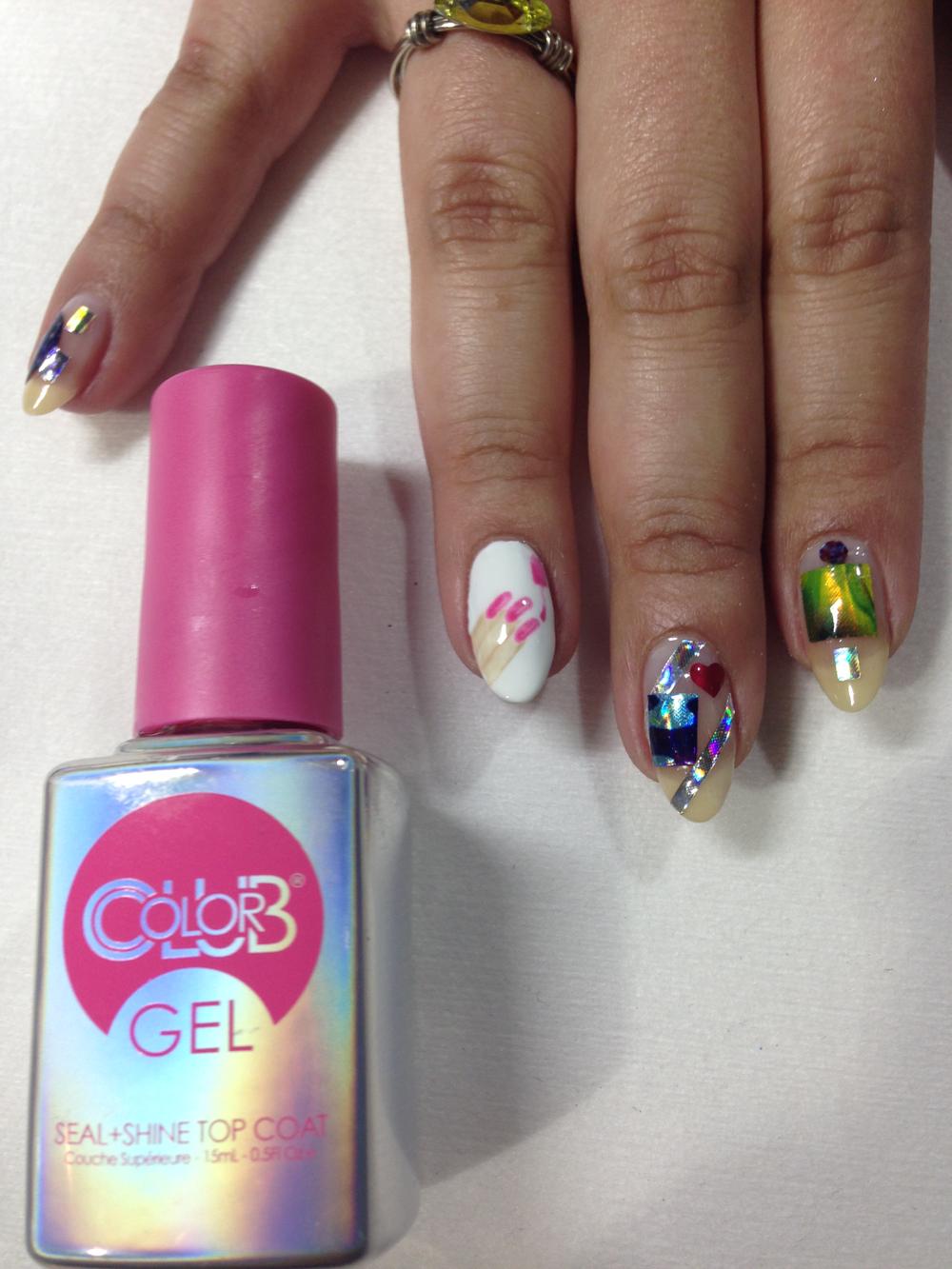 <p>Nail emoji nail art by Robert Nguyen using Color Club gel-polish</p>