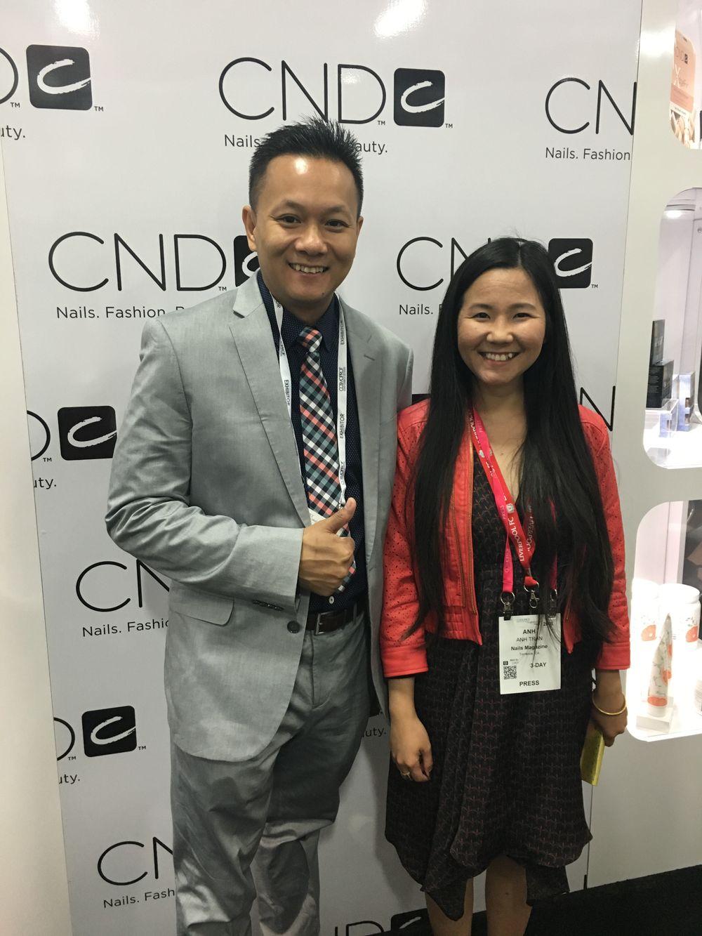 <p>CND's new Brand Development Adviser Tan Nguyen and VietSALON's Anh Tran</p>