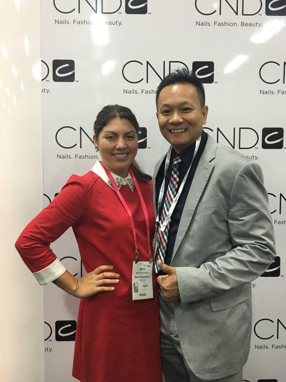 <p>NAILS senior editor Beth Livesay and NAILSNTNA alum Tan Nguyen</p>