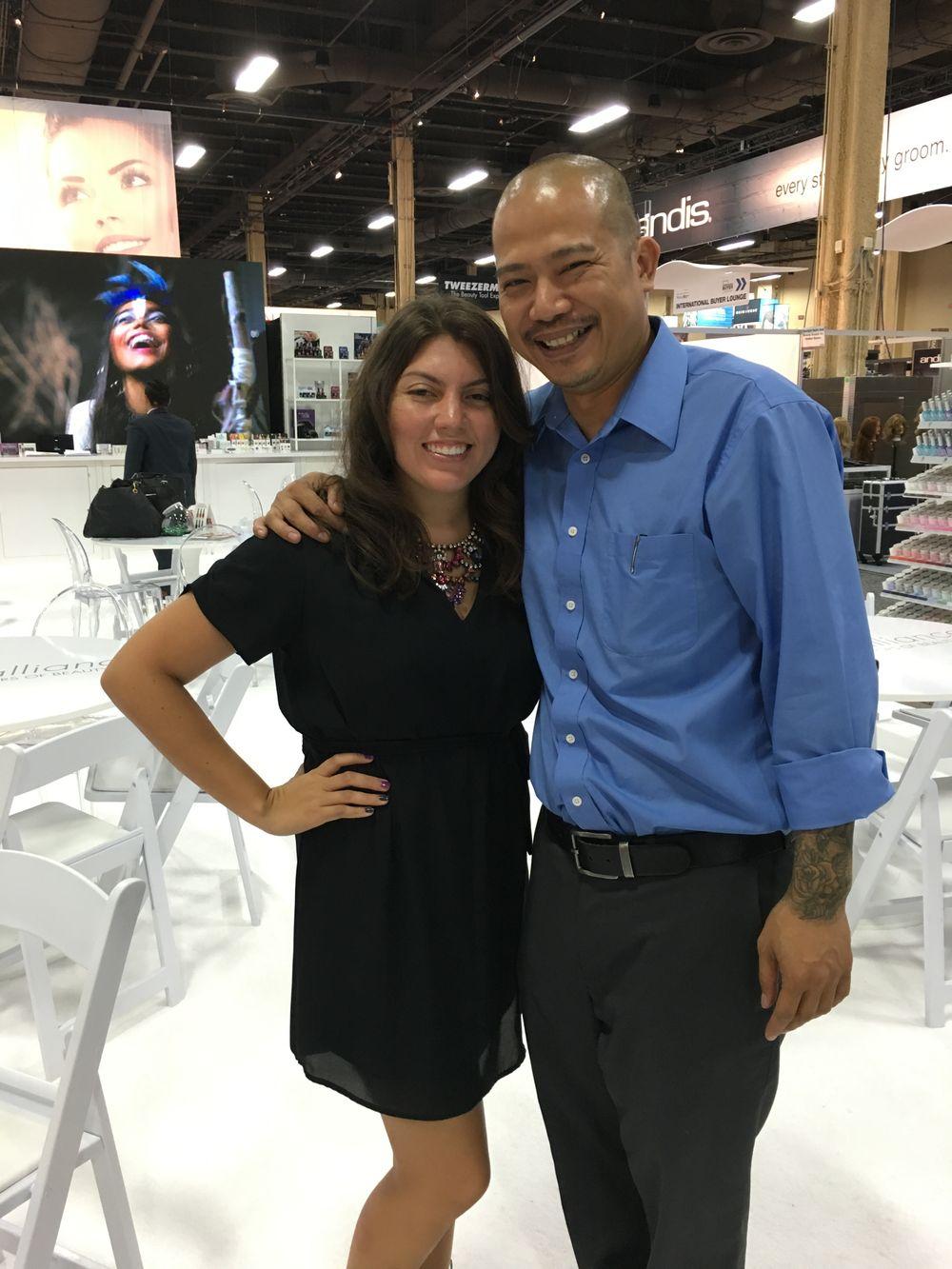 <p>NAILS senior editor Beth Livesay and Gelish's Vu Nguyen</p>