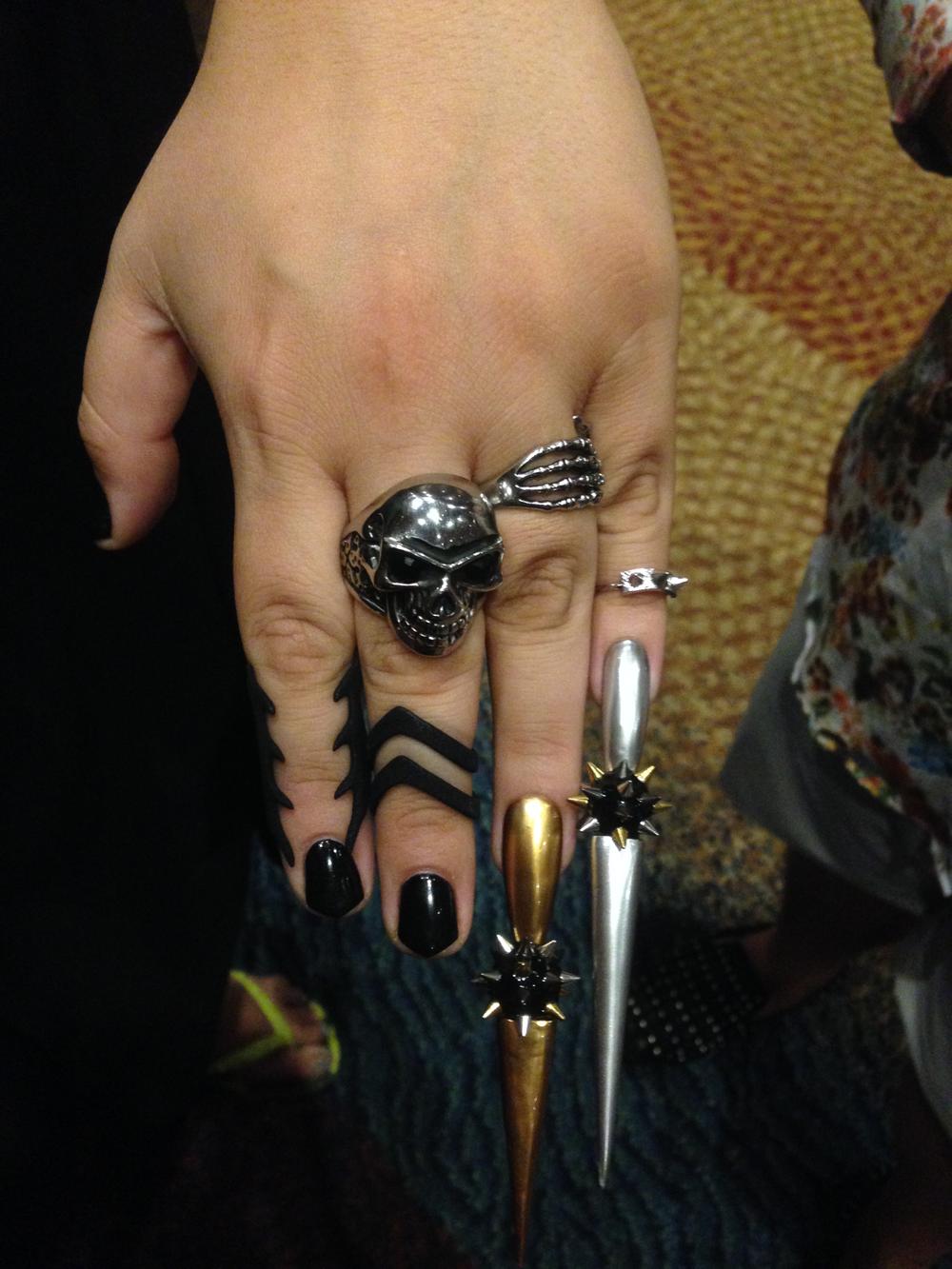 <p>Nails by Lexi Martone&nbsp;</p>