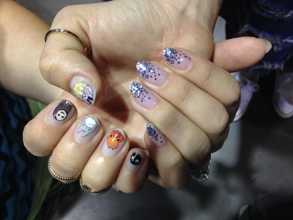 <p>Nails by Rose Barron (left) and Gena del Portillo</p>