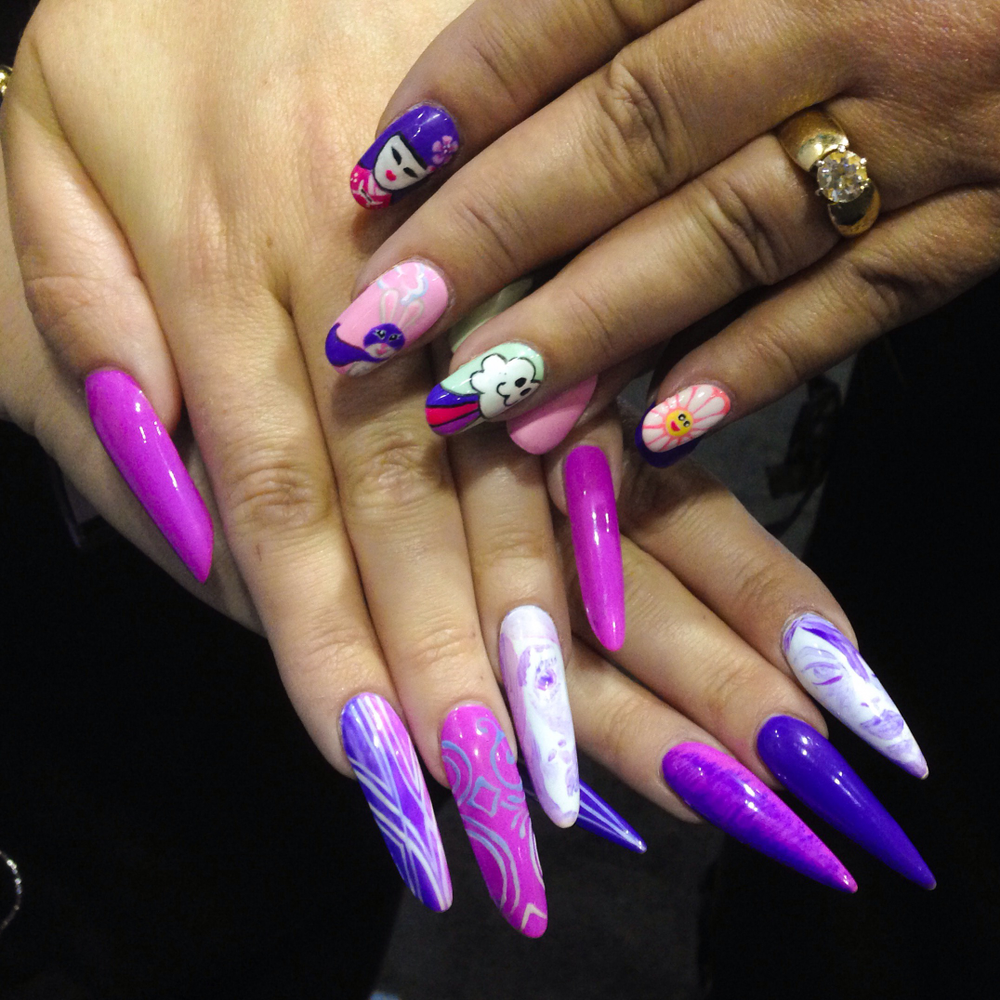 <p>Nails by Gelish's Sandy Borges and Maeling Parrish</p>