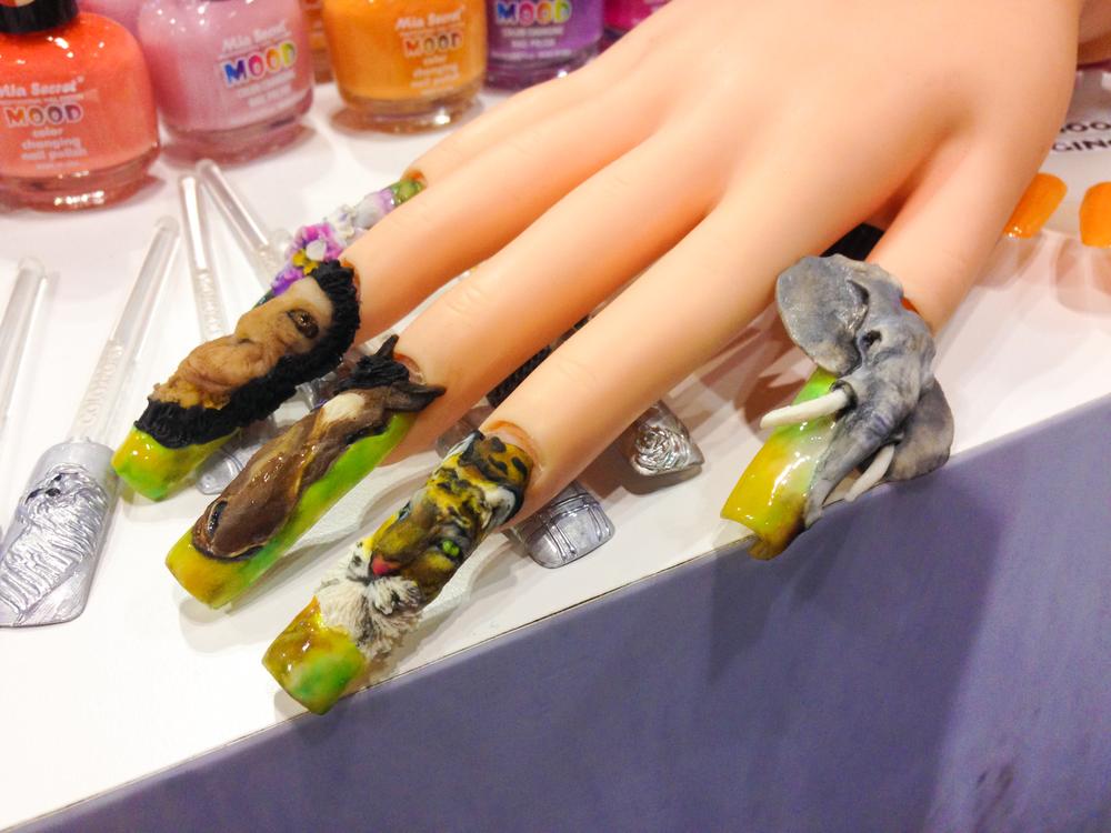 <p>Safari nail art spotted at Mia Secret booth</p>