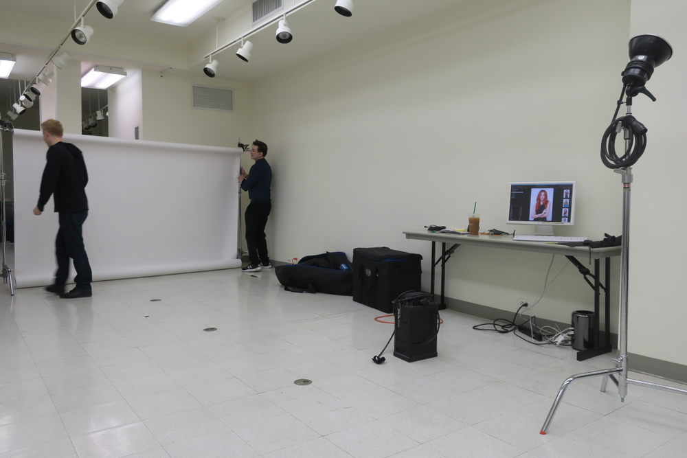 <p>The photo area was located right next to the classroom</p>