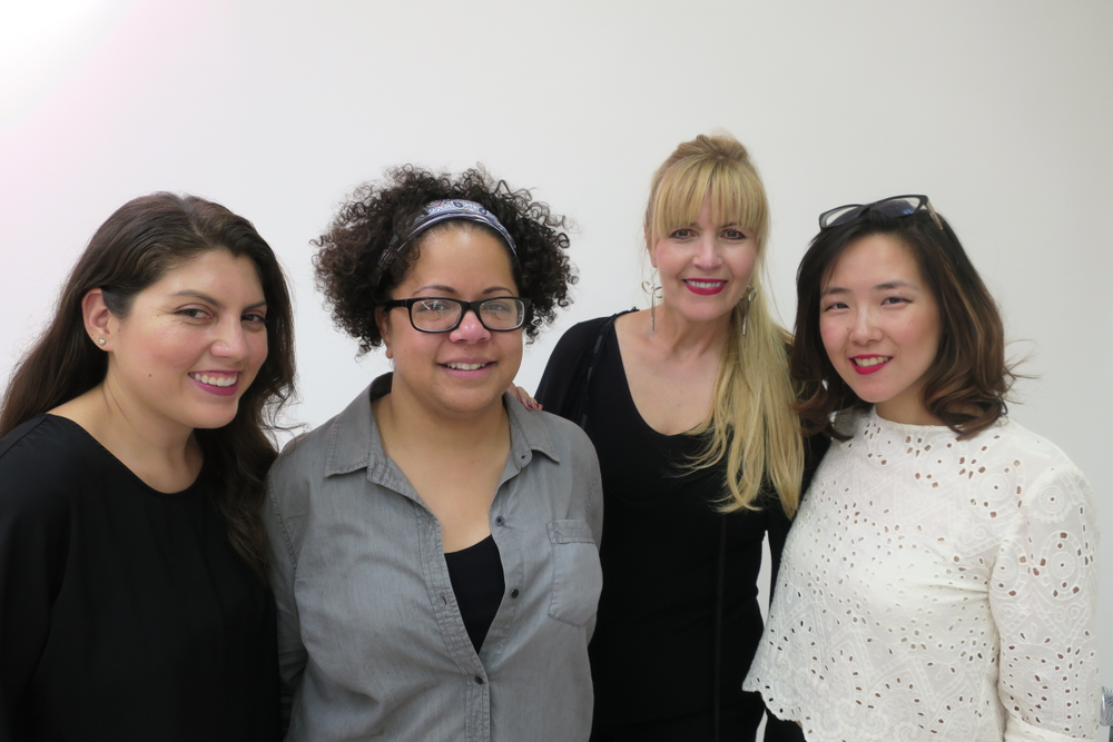 <p>NAILS executive editor Beth Livesay, Joanne Sorbello, Modern Salon's Maggie Mulhern, and NAILS art director Yuiko Sugino</p>