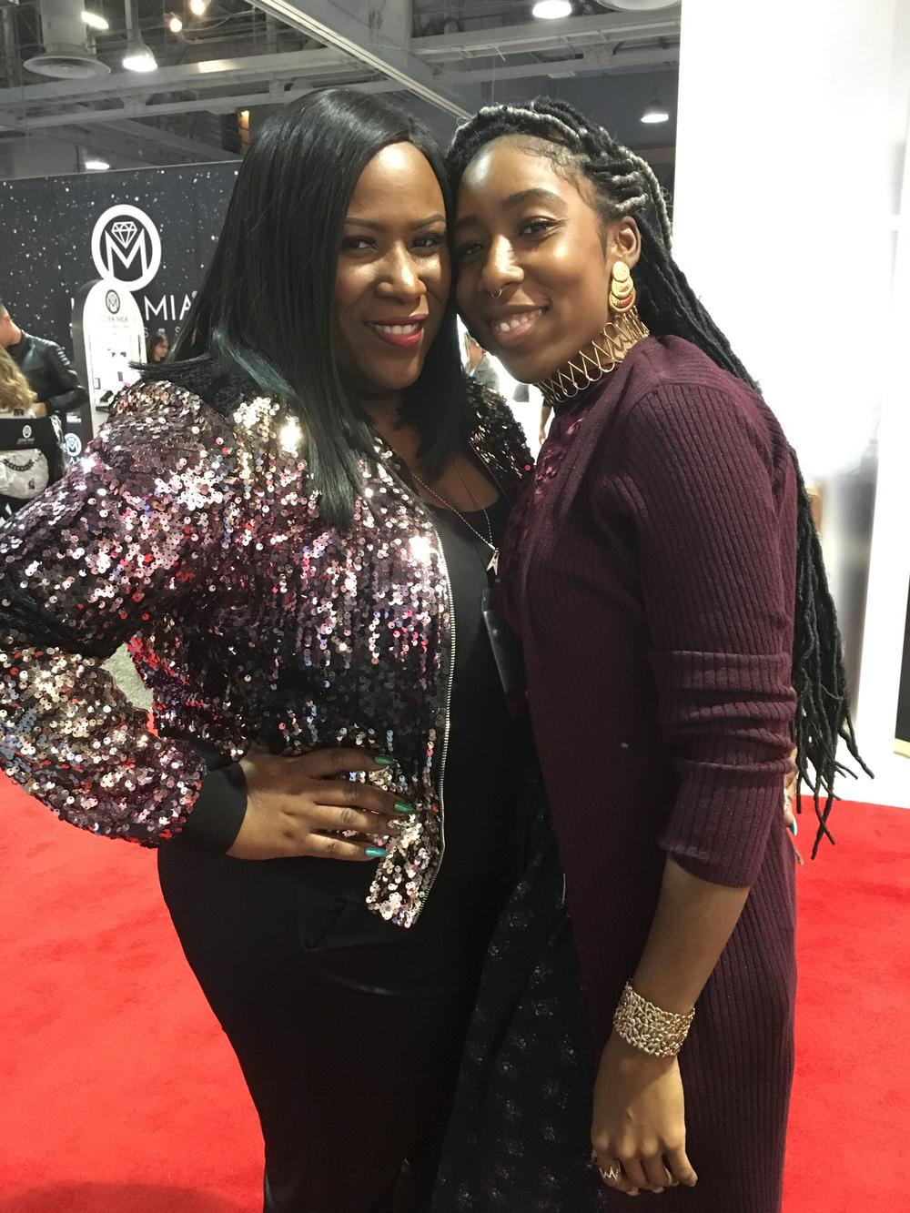 <p>Tameka Jackson and Lavette Cephus</p>