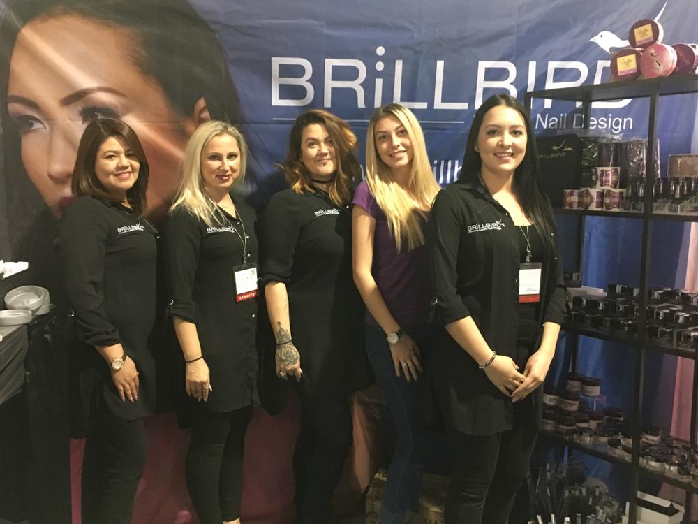 <p>BrillBird's Sharo Lemoine, Liliya Moss, Rachel Thompson, Andra Veselie, and Brandee Alexus Betancourt</p>