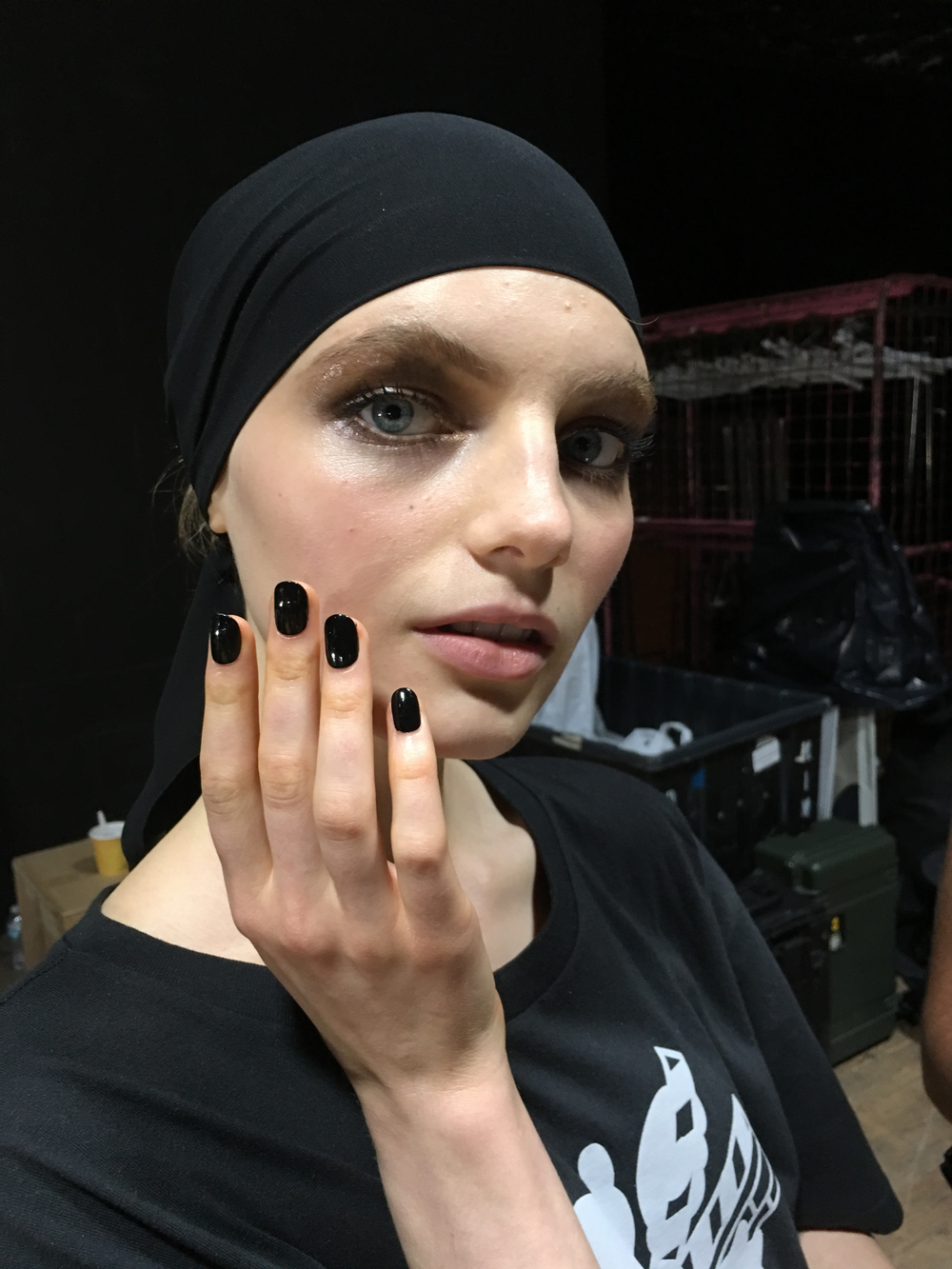 <p>Nail artist Tiffany Williams using Essie for Tom Ford</p>