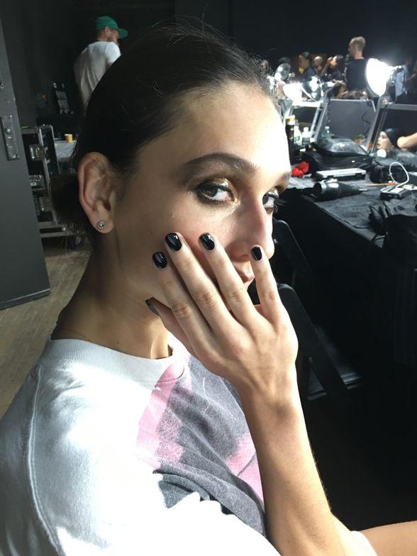 <p>Nail artist Tiffany Williams using Essie for Tom Ford</p>