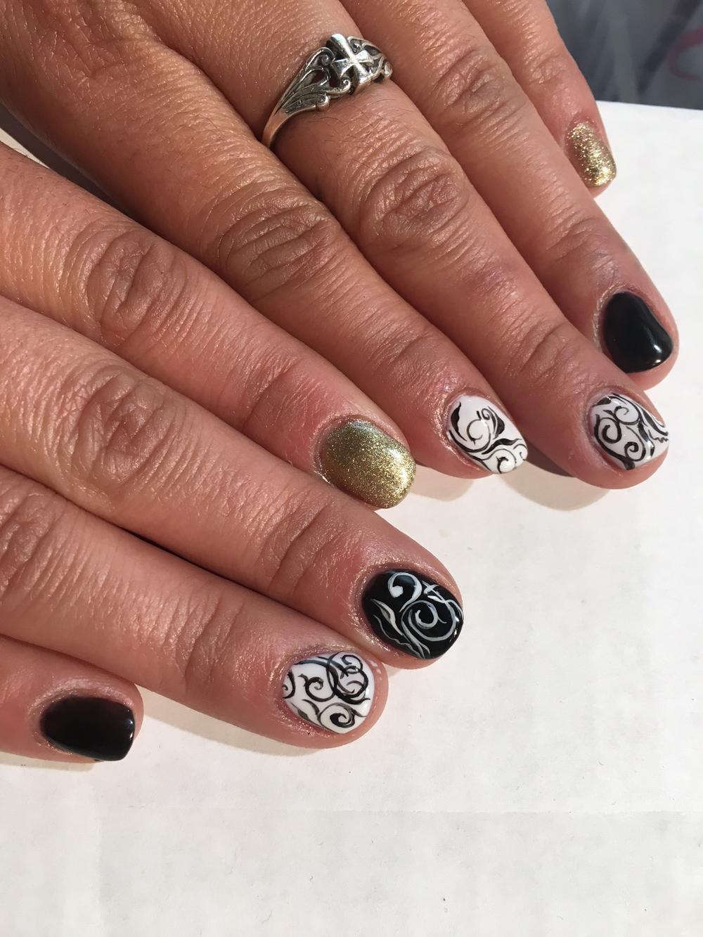<p>Roxy Carrillo's nails by Sam Biddle</p>
