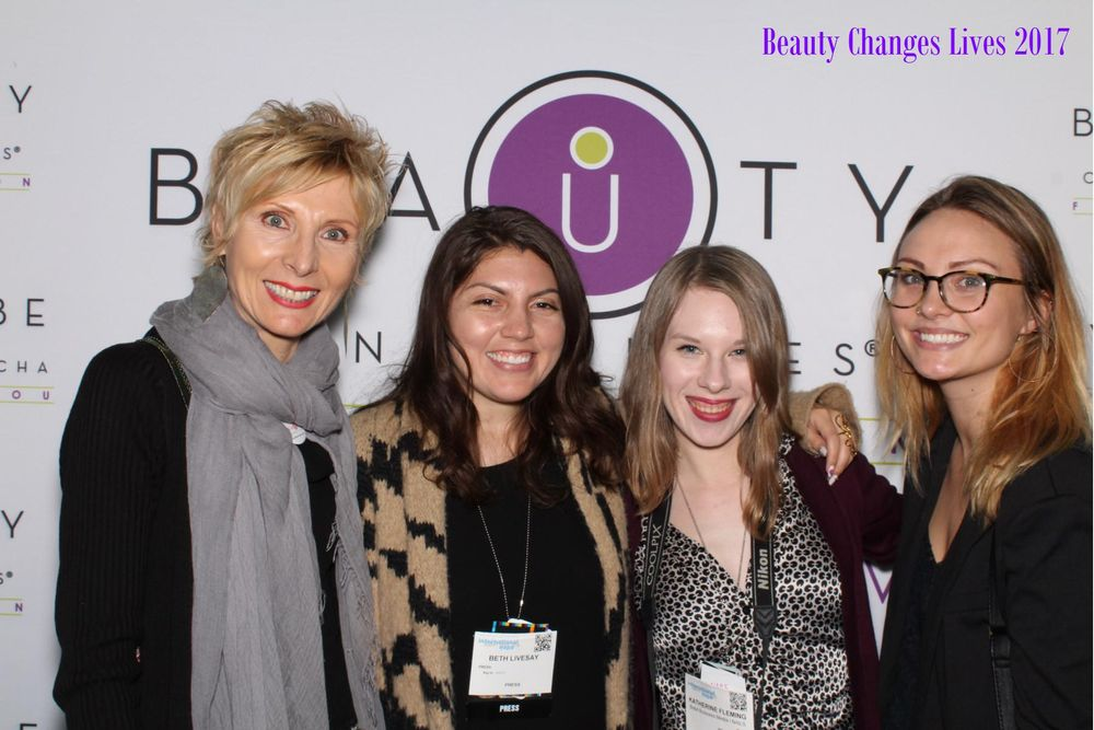 <p>Beauty Changes Lives Suzanne Mulroy with NAILS' Beth Livesay, Katherine Fleming, and Nancy Kirk</p>