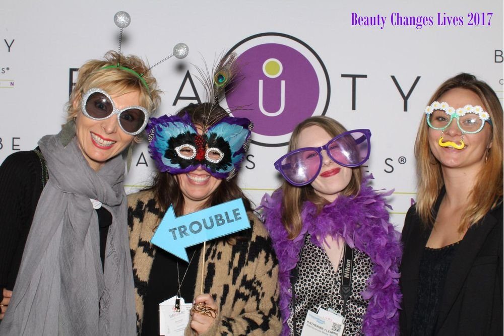 <p>At the end of the show things got a little silly with Beauty Changes Lives Suzanne Mulroy, NAILS' Beth Livesay, Katherine Fleming, and Nancy Kirk</p>