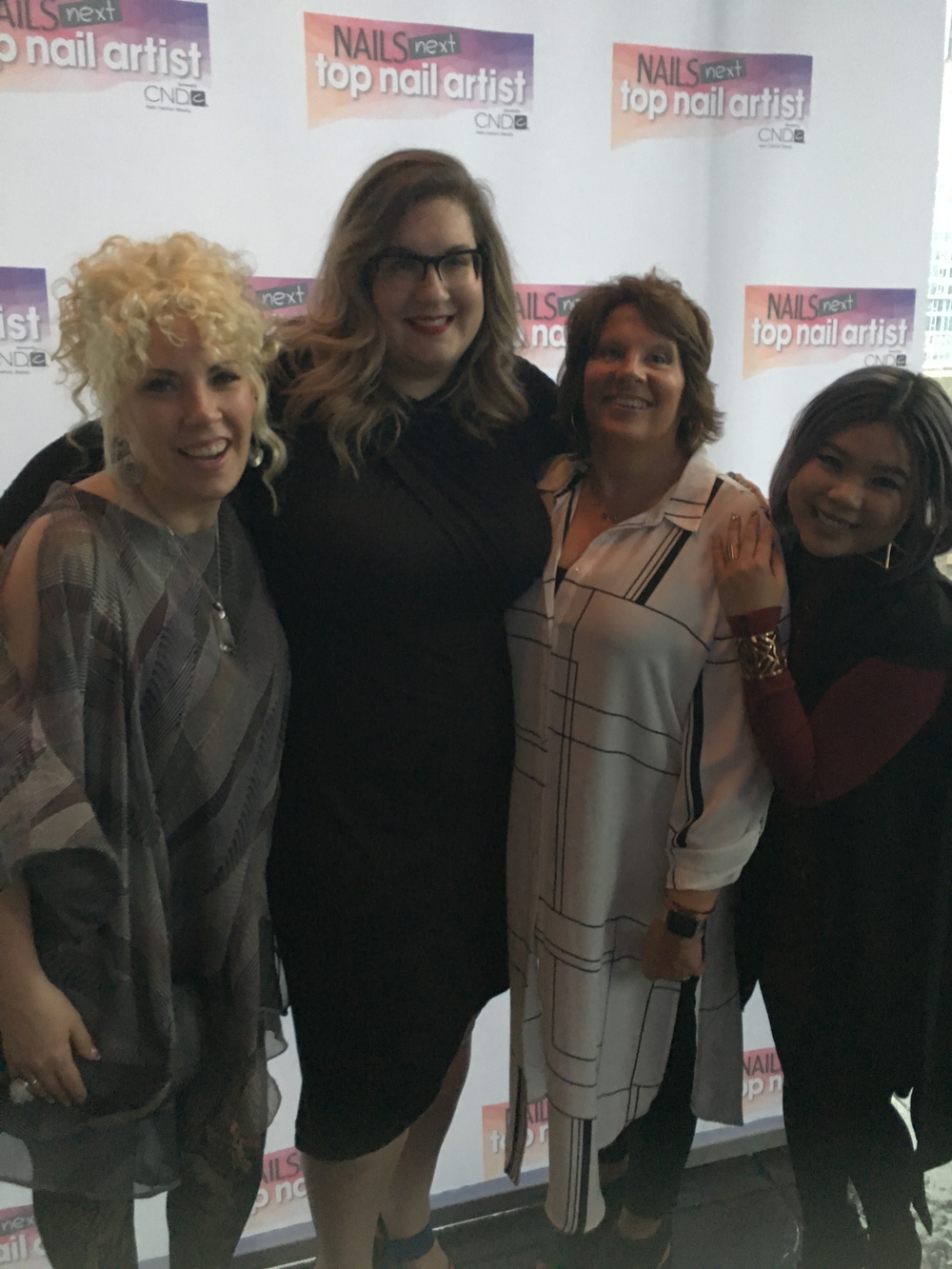 <p>Torie Bastian, Ashley Gregory, Barb Gregory, and Winnie Huang</p>