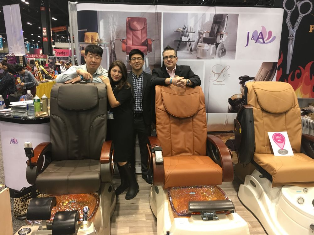 <p>The J&amp;A team with NAILS' Beth Livesay</p>