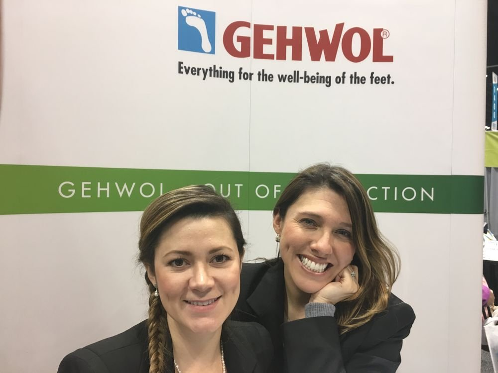 <p>Gehwol's Johana Sterling and Monica McCabe</p>