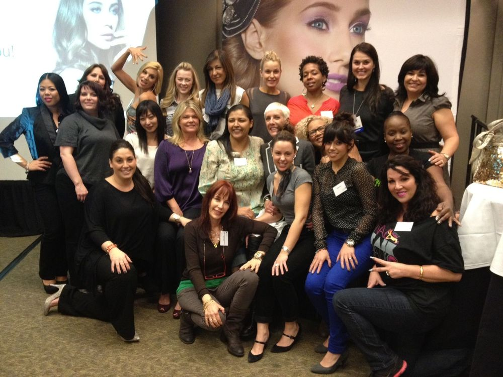 """<p>More than 20 of the nail industry&rsquo;s biggest celebrity manicurists (plus the winner of America&rsquo;s Next Top Model All-Stars) came to <a href=""""http://www.cnd.com"""">CND</a>&rsquo;s Champagne and VIP Master Painter Workshop, where education training manager Roxanne Valinoti shared tips for using Shellac Power Polish including foiling, glitter fading, and color etching techniques.</p>"""