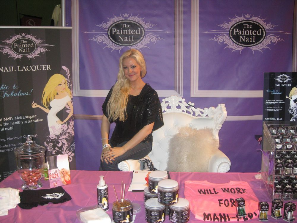 """<p>Reality show <em>Nail Files</em> star Katie Cazorla had a mini-salon (decked out like her real salon, The Painted Nail in Sherman Oaks, Calif.) in the <a href=""""http://www.bynubar.com"""">Nubar </a>booth, complete with her own product line.</p>"""