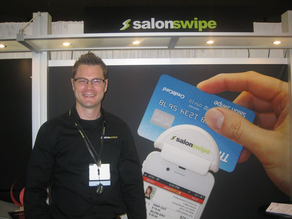 """<p>Isaac Lay introduced <a href=""""http://salonswipe.com"""">SalonSwipe</a> to the market, a credit card reader that works with your smartphone so you can accept credit card payments in the salon or on the go.</p>"""