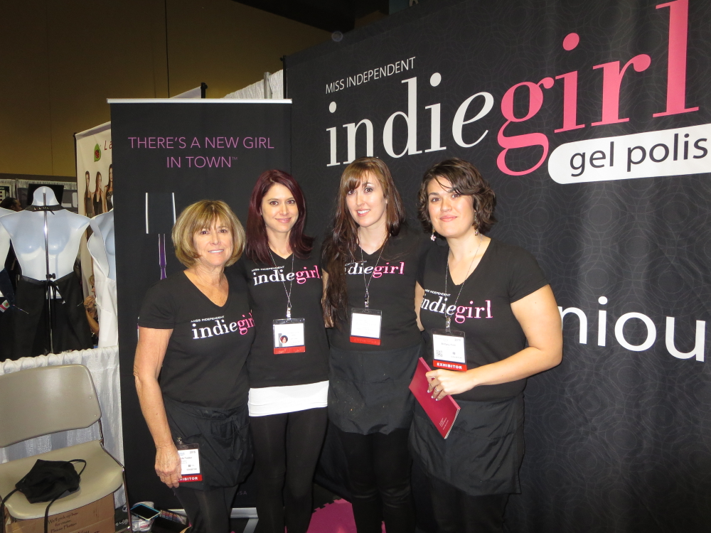 <p>Indie Girl gel-polish debut: Rhonda Tooker, Cassie Scheuplein, Christina Flint, and Brittany Flint</p>