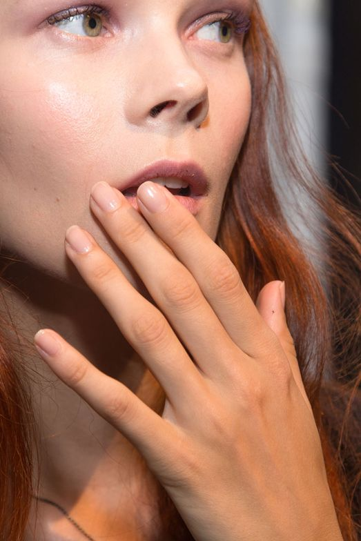 <p>For Derek Lam's collection, Jin Soon Choi created a simple and classic nail to complement the brand's modern sensibility. Photo courtesy of Jin Soon Choi.</p>