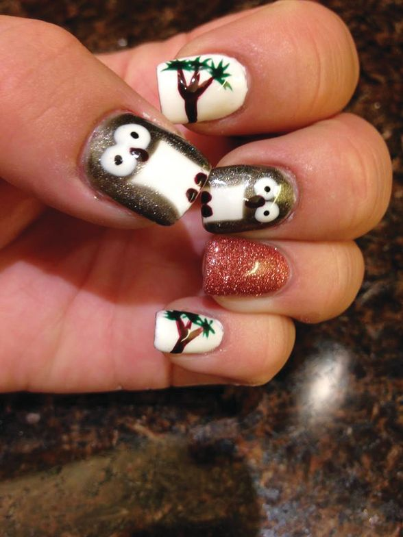 <p>TAOND student Jaclyn Clara created these short nails.</p>