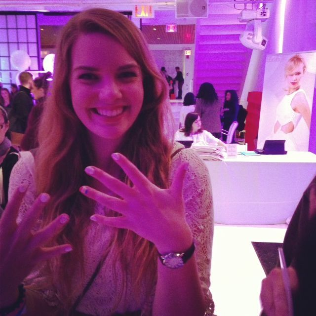 <p>NAIL ART: Jamberry Nails' appliques were applied at a bloggers' lounge during Fashion Week. Photography courtesy of Jamberry Nails</p>