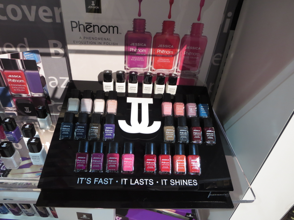 <p>At ISSE, Jessica Cosmetics launched Phenom, a long-lasting line of nail polish</p>