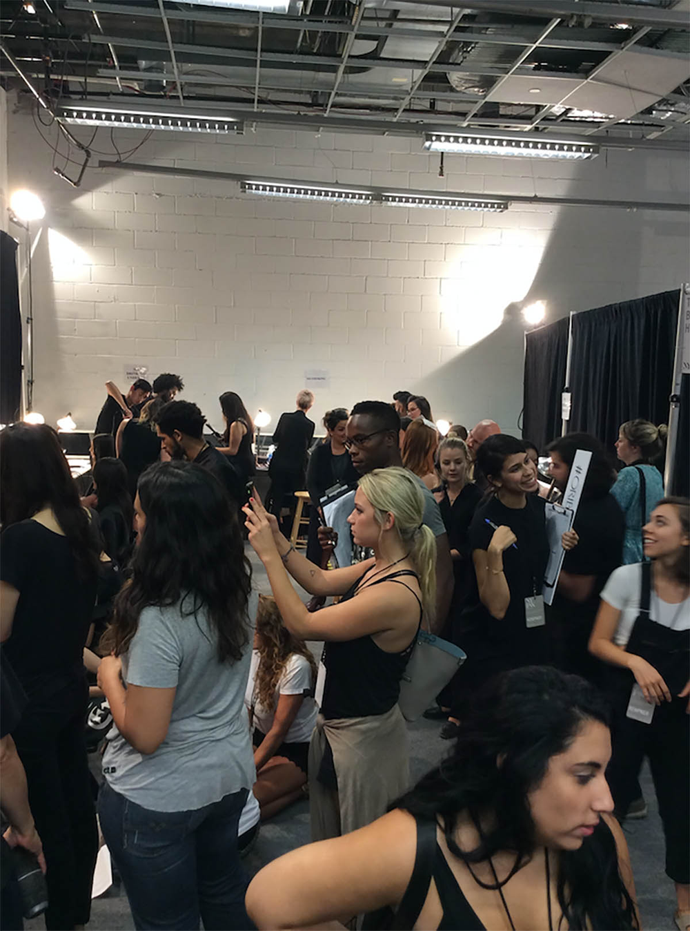 <p>Backstage with PRITI NYC.</p>