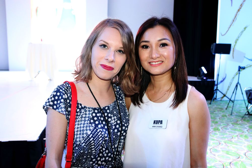 <p>Associate Editor Katherine Fleming and Kupa's Ann Chang</p>