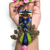 NTNA S. 6 Challenge 8: Peacock and Pagoda Nail Art (Kelsey)