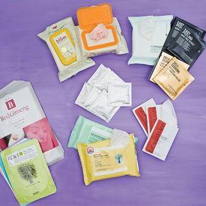 Clockwise from top center: Blum Naturals, Comodynes Convenient Cosmetics, Jonathan Product,...