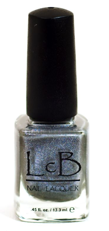 <p><strong>LcB Nail Lacquer</strong> in Thin As Rail is Smoky, Sparkly, icy and infused with a metallic iridescence for an extra kick.</p>