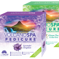 New Volcano Spa scents coming out: lavender Eruption and Green Tea & Aloe Vera