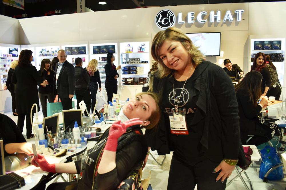 <p>Anastasiia Morozova and Wendy Valenzuela at LeChat</p>