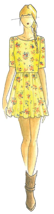 <p>Cheerful <strong>Lemon Zest</strong> brings out a piquant taste with its refreshing, spritely greenish cast. <em>Illustration by&nbsp; Ella Moss by Pamella Protzel-Scott. Originally appeared in The Pantone Fashion Color Report Spring 2013.</em></p>