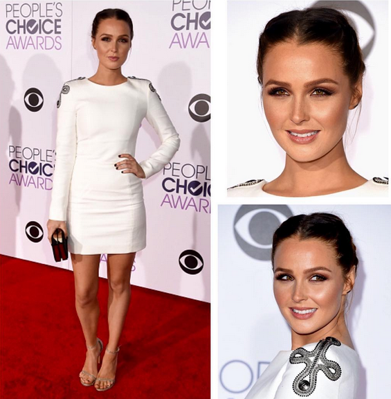 <p>Caption Look, Don't Touch graced Grey's Anatomy's Camilla Luddington.</p>