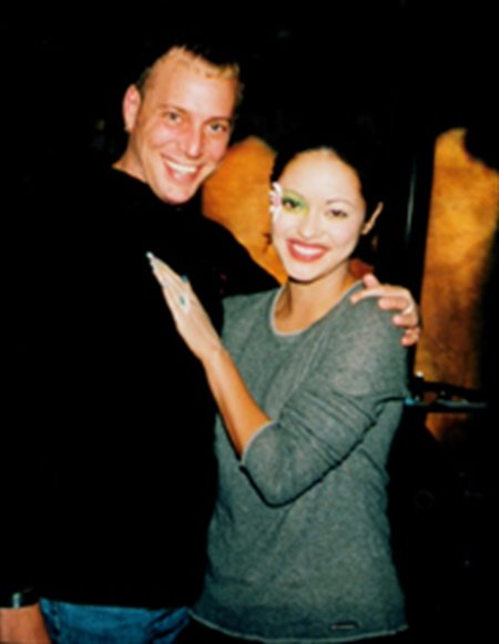 With his cover model Marisa Ramirez at the April 2000 cover photo shoot for NAILS.