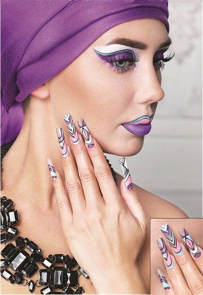 "OleHouse student Belyaeva won fifth place in the ""Nails in the image of customer""-themed photo contest at Nevskie Berega 2015"