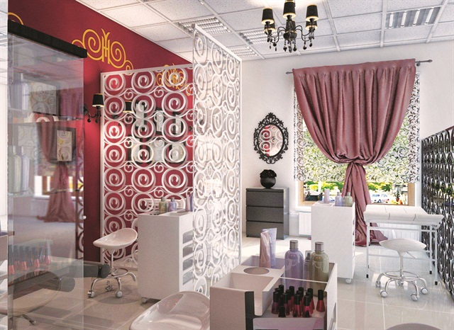 Nail Couture in Yekaterinburg, Russia, offers a clean luxurious setting for beauty services.