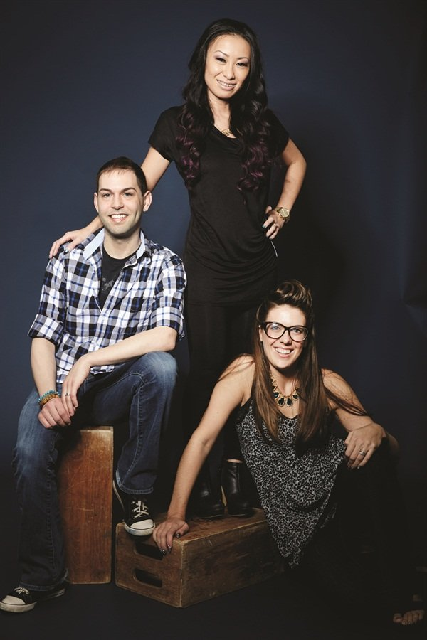 <p>The Top 3 Finalists for NAILS Next Top Nail Artist: Buddy Sims, Ryoko Garcia, and Lauren Wireman</p>