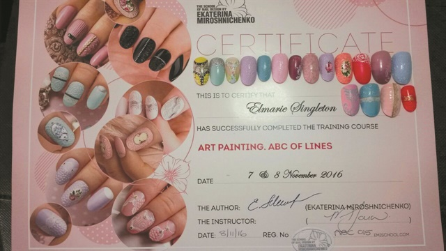 The most popular class at E.MI School of Nail Design—Pretoria is ART Painting—ABCs of Lines.