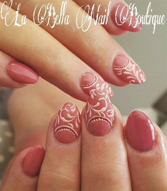 This moon manicure design is by Marichelle De Costa, who completed a nail art course with E.MI School of Nail Design—Pretoria.