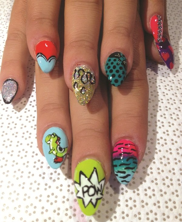 Jane Moate Mid 50 60 A Lot Of My Clients Look At Work And Ask Me To Go Crazy Meaning Do All 10 Nails With Mix Match Style