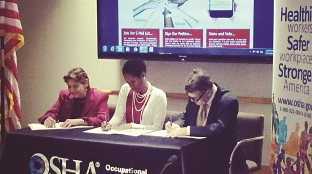 <p>The Concerned Beauty Professionals secured a Health and Safety Federal Alliance in 2013 with the Occupational Safety and Health Administration (OSHA) in partnership with Georgia Institute of Technology.</p>