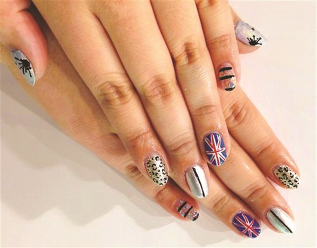 WAH Nails is known for its bold nail art designs, such as the variety shown here by artist Chiizii.